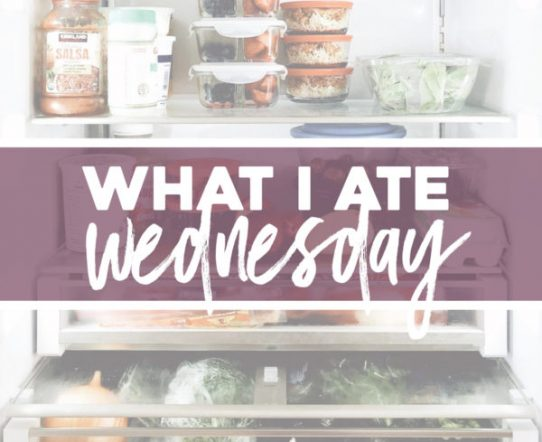 what i ate wednesday • april